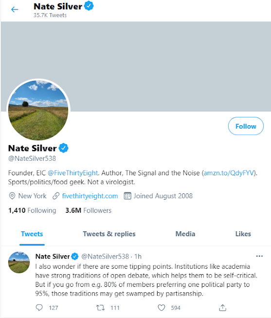 Nate Silver Twitter Updates