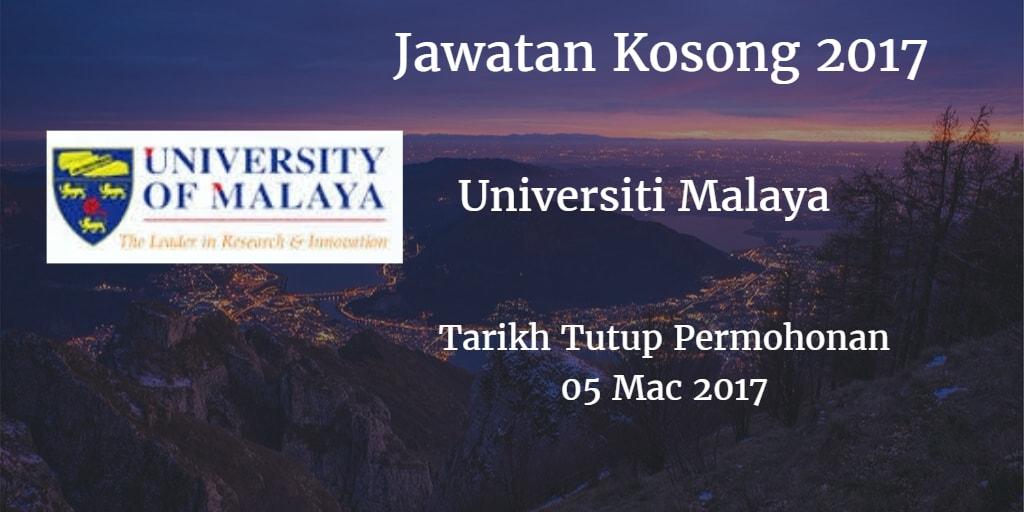 Jawatan Kosong UM 05 Mac 2017