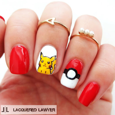 Lacquered Lawyer Nail Art Blog Pikachu