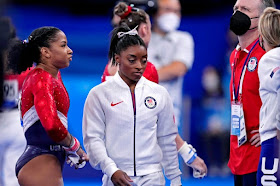 US women's gymnastics team claims silver in team final after Simone Biles withdraws at Tokyo Olympics