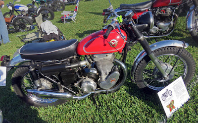 Red Matchless scrambler.