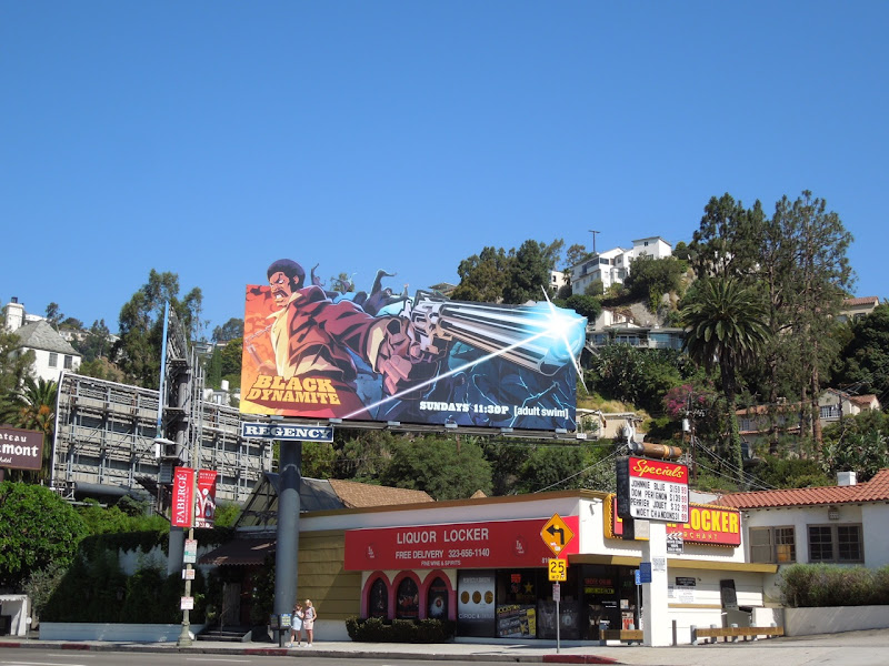 Black Dynamite cartoon billboard