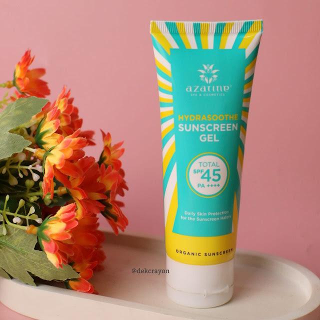 azarine hydrasoothe sunscreen gel
