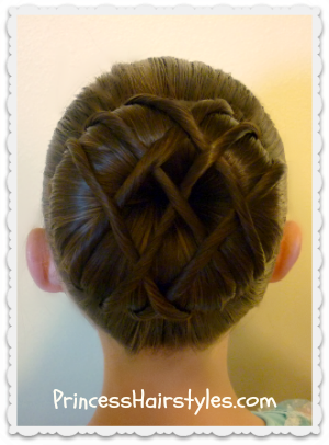 Hot cross bun - Dance hairstyle