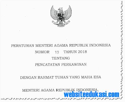 Peraturan Menteri Agama (PMA) Nomor 19 Tahun 2018