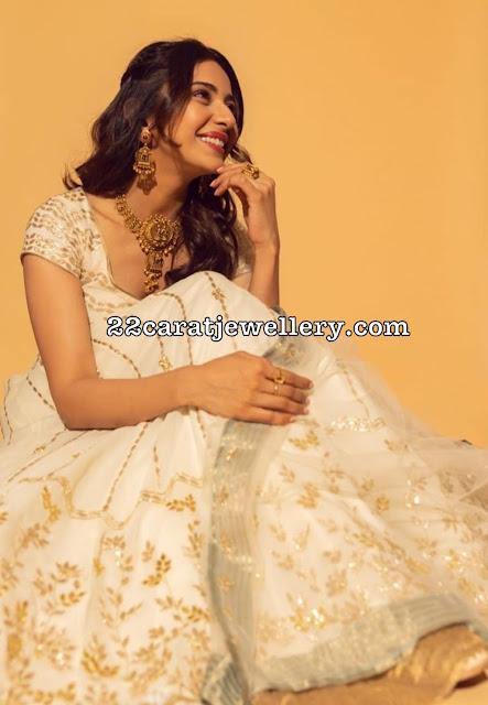 Rakul Preet Fancy Bridal Antique Choker