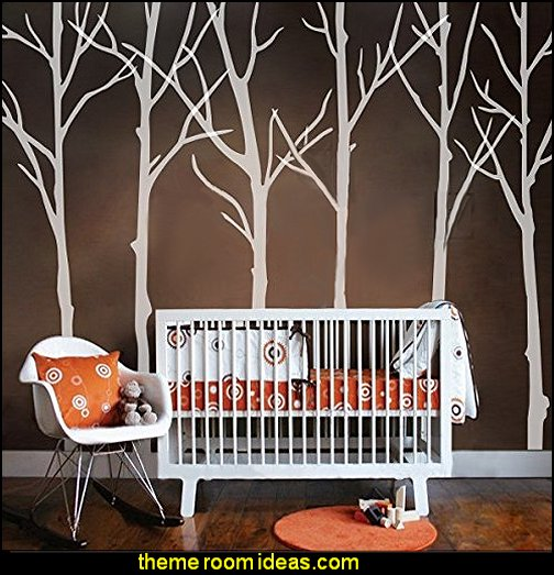Six Tree Wall decal Tree Vinyl Wall Poster Art - Bedroom Wall Sticker