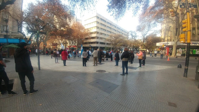 Hubo protestas en contra de la reforma judicial en Mendoza