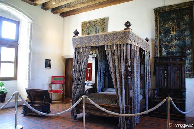 La camera Enrico II del Palazzo Reale di Amboise