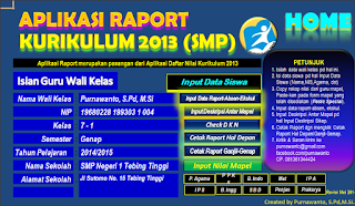 Update Kurikulum Pendidikan Aplikasi Raport SMK/MTs Kurikulum 2013