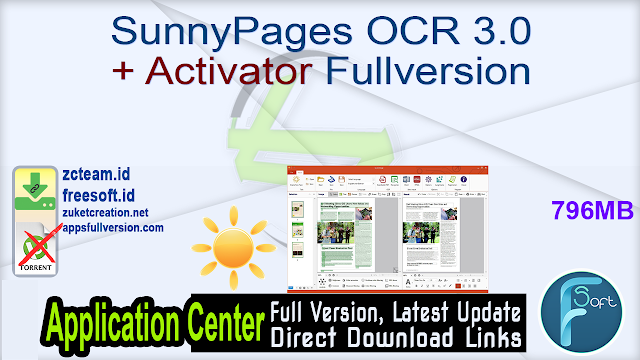 SunnyPages OCR 3.0 + Activator Fullversion