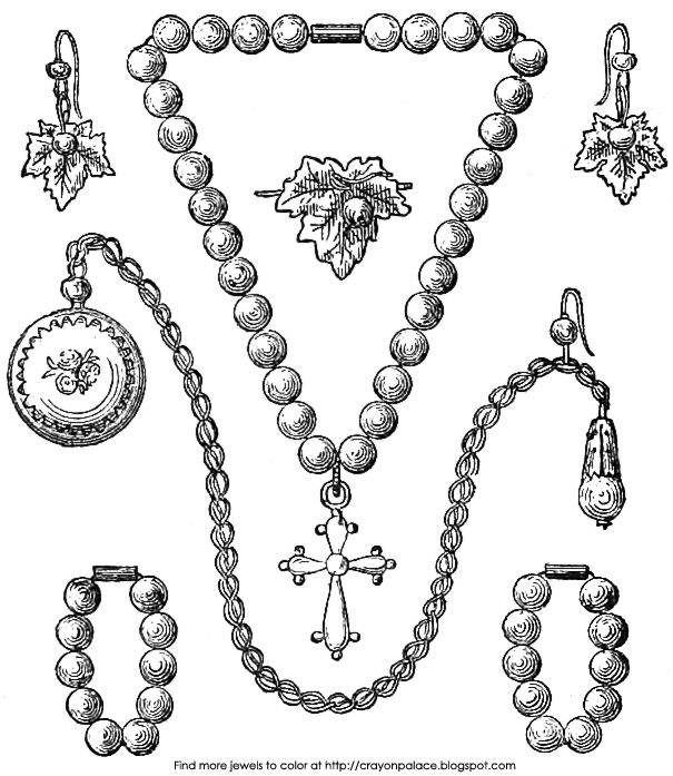 jewlery coloring pages - photo#15