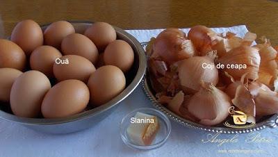 Oua de Pasti vopsite natural - etapa 1