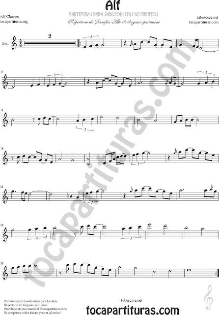 Alf Partitura para Saxofonistas de Eventos Repertorio diegosax Saxo Alto