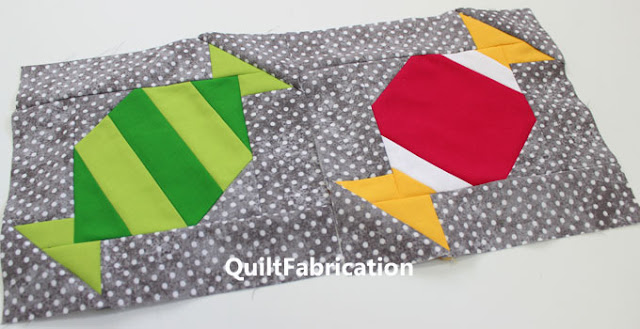 green apple and bubblegum candy quilt blocks by QuiltFabrication
