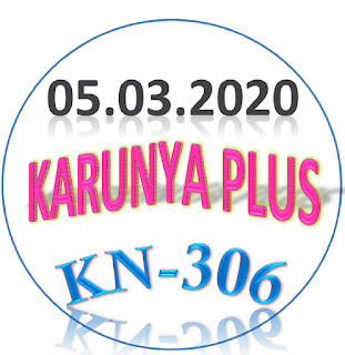 Kerala Lottery Result Karunya Plus KN-306 dated 05.03.2020