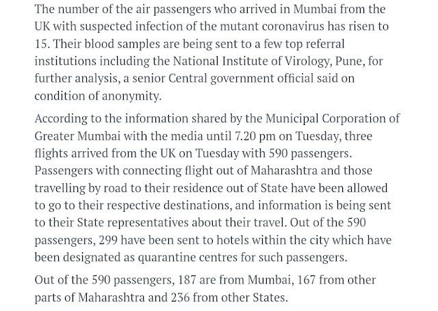 Mutant Coronavirus from UK arrived in MUMBAI !! - YP Buzz
