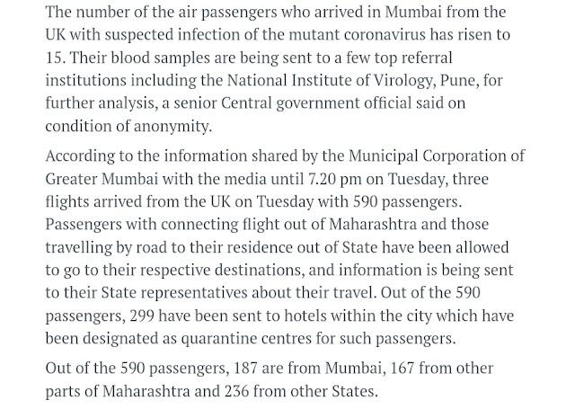 Mutant Coronavirus from UK arrived in MUMBAI !! - YP Buzz