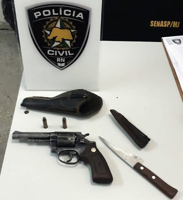 Polícia Civil prende suspeito por posse ilegal de arma de fogo no interior do RN