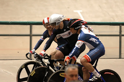 Ray Gildea, Brian Moore, Dennis Pedersen team sprint. Photo by Tom Kimmel.
