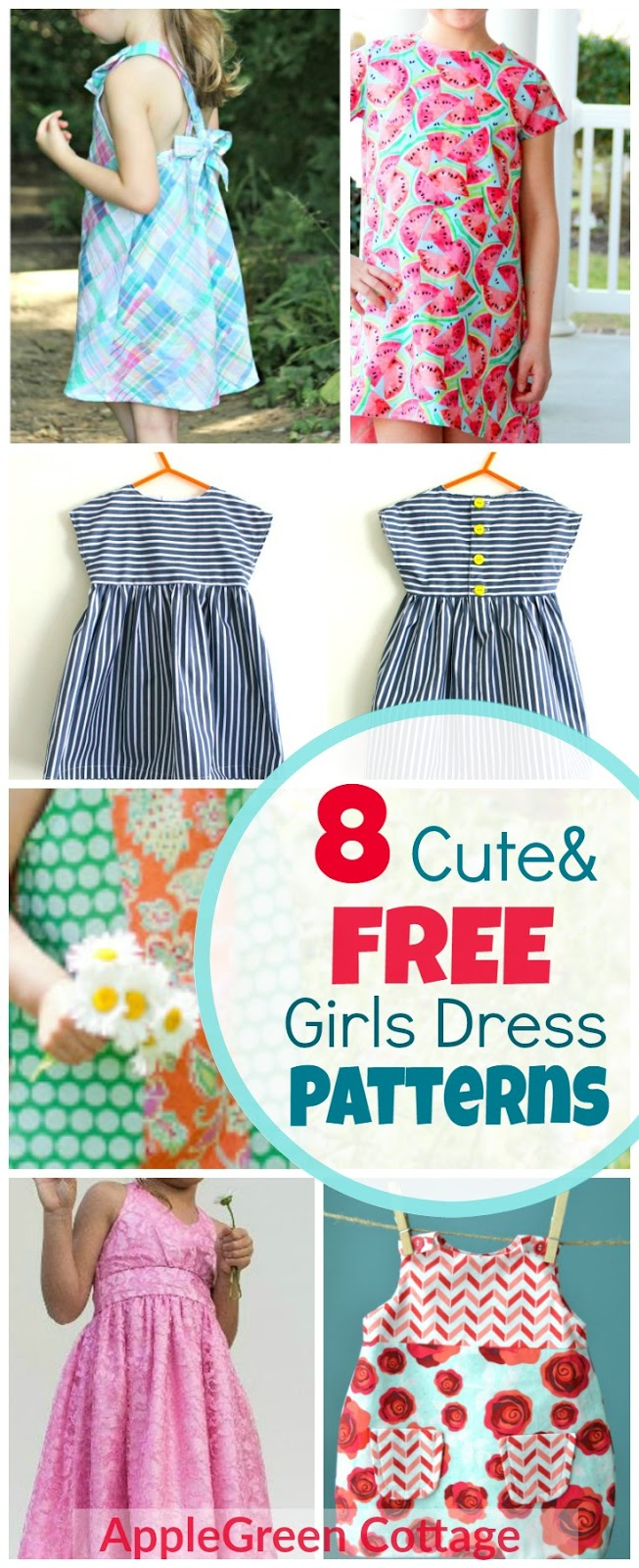 8 adorable free little girl dress patterns applegreen cottage 8 free patterns for cute girls dresses great beginner sewing projects because theres always jeuxipadfo Gallery