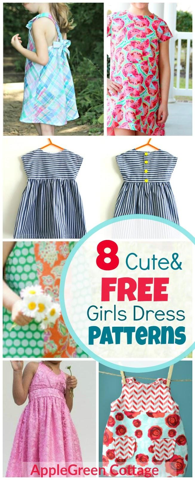 8 Adorable Free Little Girl Dress Patterns Applegreen