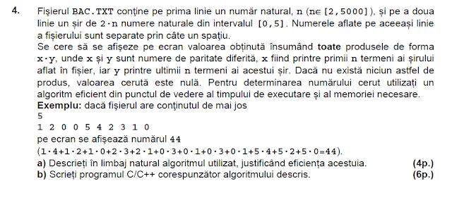 bac 2015 septembrie matematica informatica