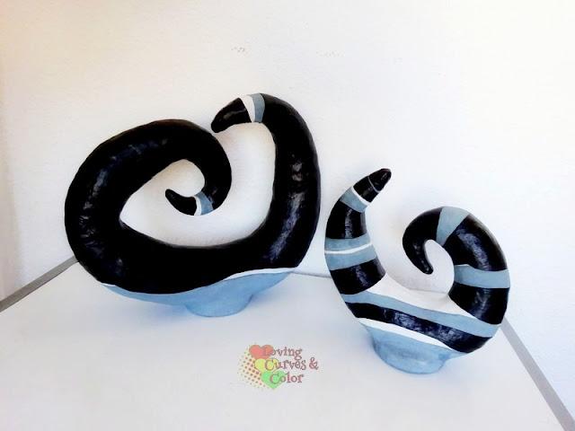 Objetos-decorativos-de-papel-en-forma-de-espiral