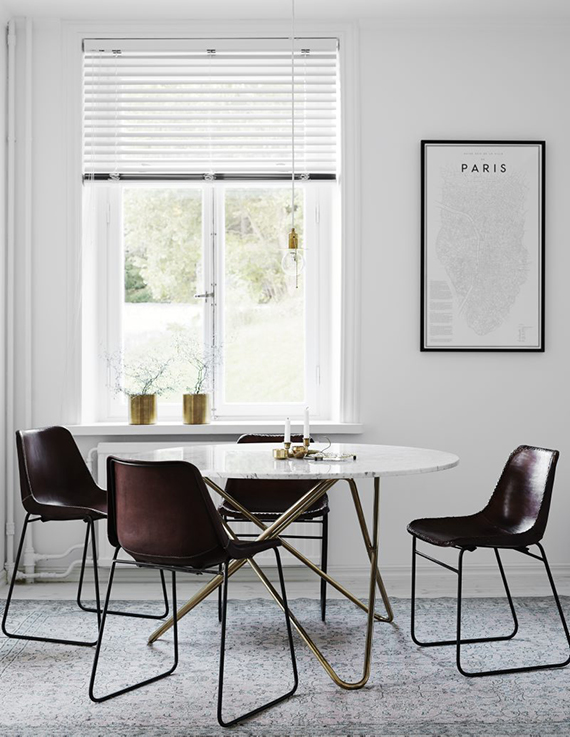 Scandinavian dining rooms to make you crave for a round table |  photo by Kristofer Johnsson, styling by Lotta Agaton via Residence