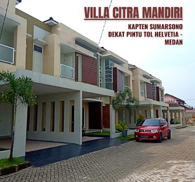 Rumah Modern Ready dan Siap Huni - 2 Lantai Dekat Pintu Tol Helvetia Medan - Villa Citra Mandiri