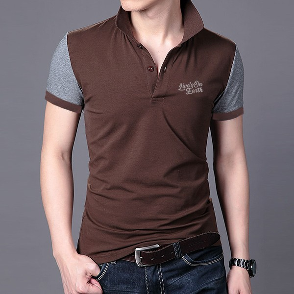 Polo Shirt Premium Brown Sugar