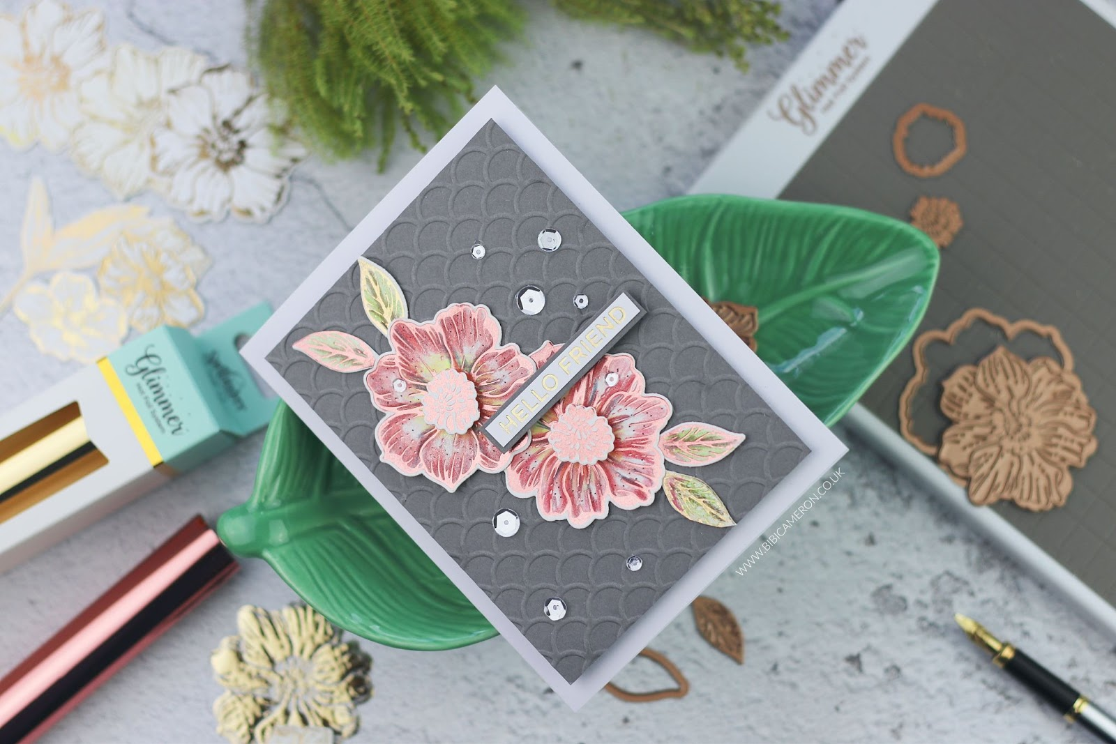 Radiant Flower | Spellbinders Glimmer Hot Foil Kit of the Month
