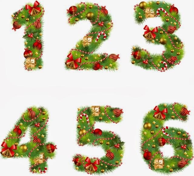 Numerais Coloridos - Natal