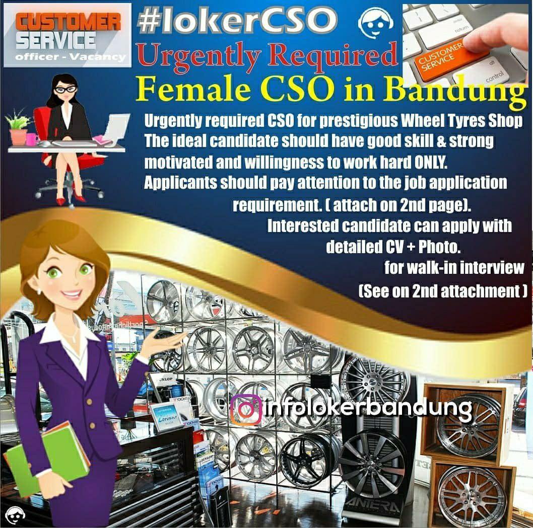 Lowongan Kerja Customer Service (CSO) Vertical Motorsport Bandung Oktober 2019