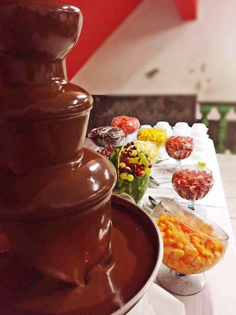 fonte de chocolate festas