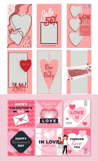 Chia sẻ vector ngày tình yêu 14.2