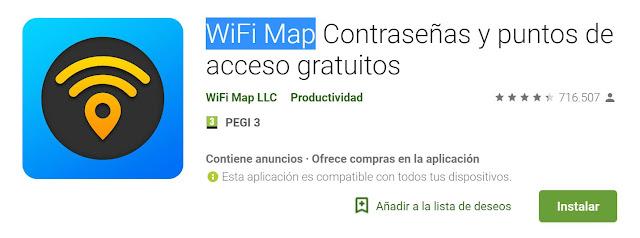 WiFi Map Contraseñas y puntos de acceso gratuitos