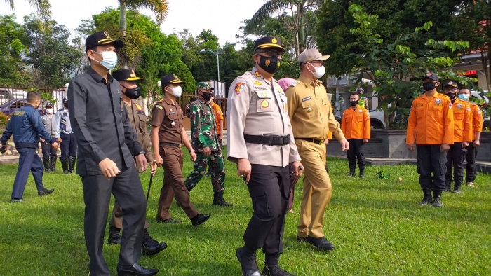 Bupati Asahan Mengikuti Apel Gelar Pasukan Operasi Ketupat Toba 2021