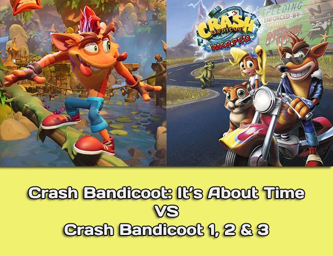 Crash Bandicoot 4 vs Crash Bandicoot 1, 2 & 3