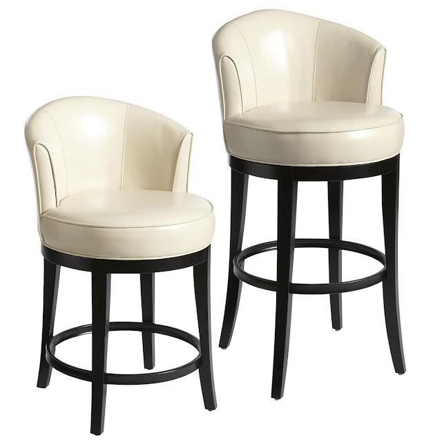 Круглые барные стулья со спинкой