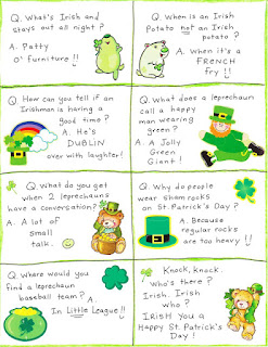 St Patrick's day jokes and riddles