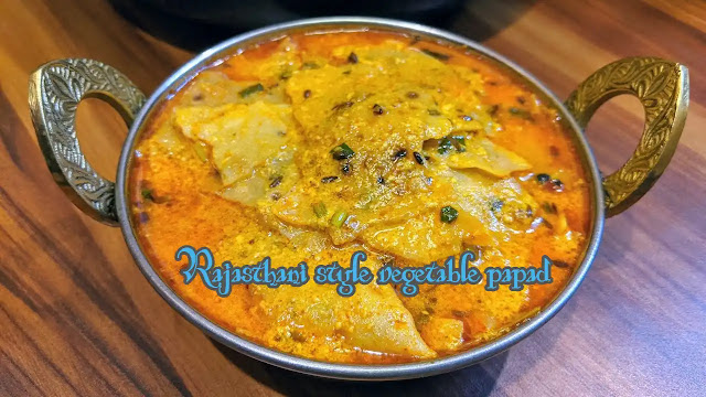 Rajasthani style vegetable papad prepared in 10 minutes