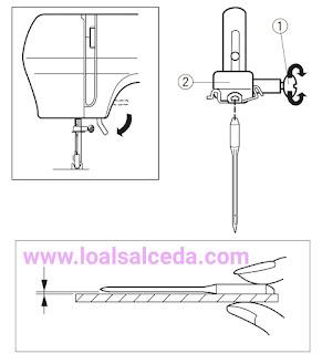 Aguja maquina de coser Janome