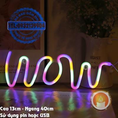 Đèn led neon wow