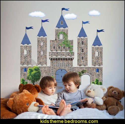 Medieval-Knights & Dragons decorating ideas - knights castle decor - knights and dragons theme rooms - dragon theme decor - prince decor - medieval castle wall murals - knights and dragons baby bedding - Knights Medieval bedding - dragon bedding