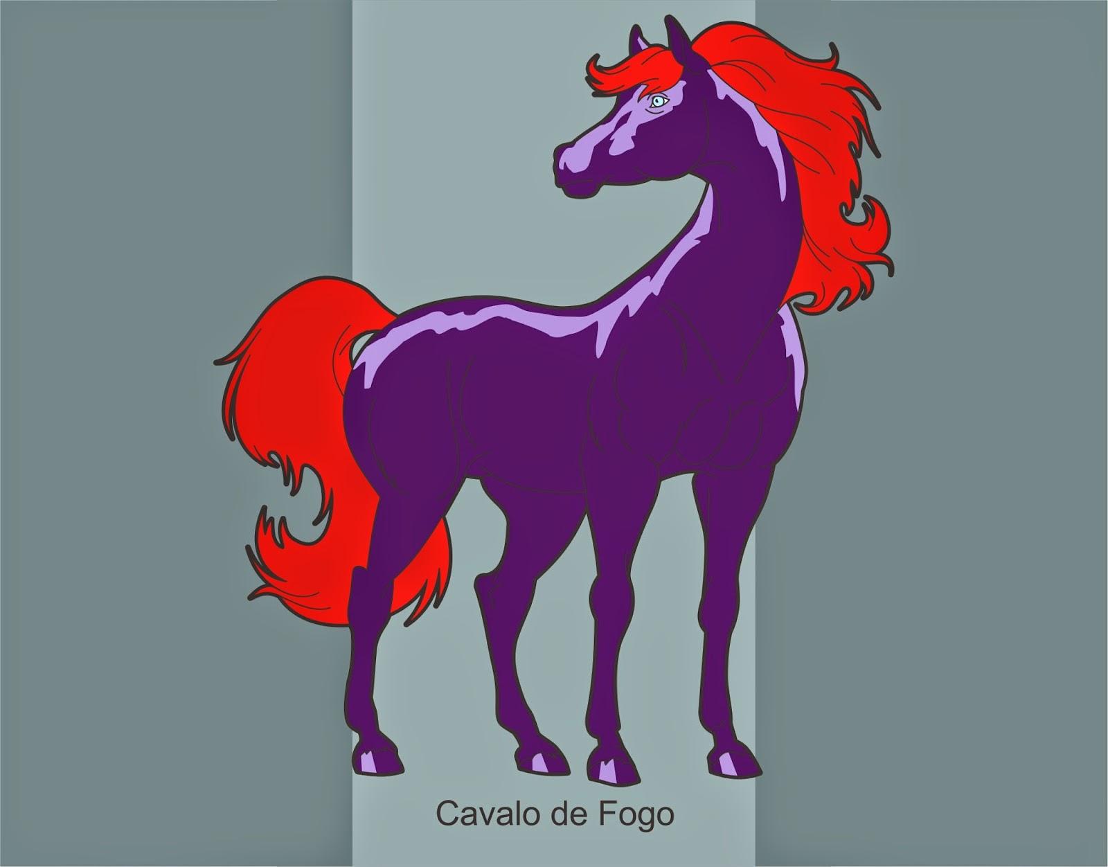 Desenho Animado Cavalo De Fogo