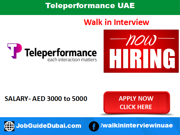 Teleperformance UAE career in for Call Center, Customer Service, and Telecalling job in Dubai UAE