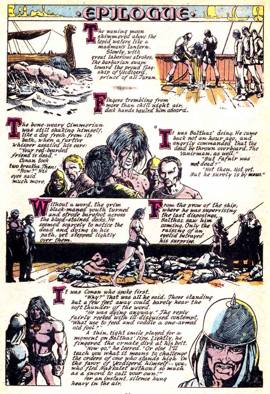 Conan the Barbarian v1 #20 marvel comic book page art by Barry Windsor Smith