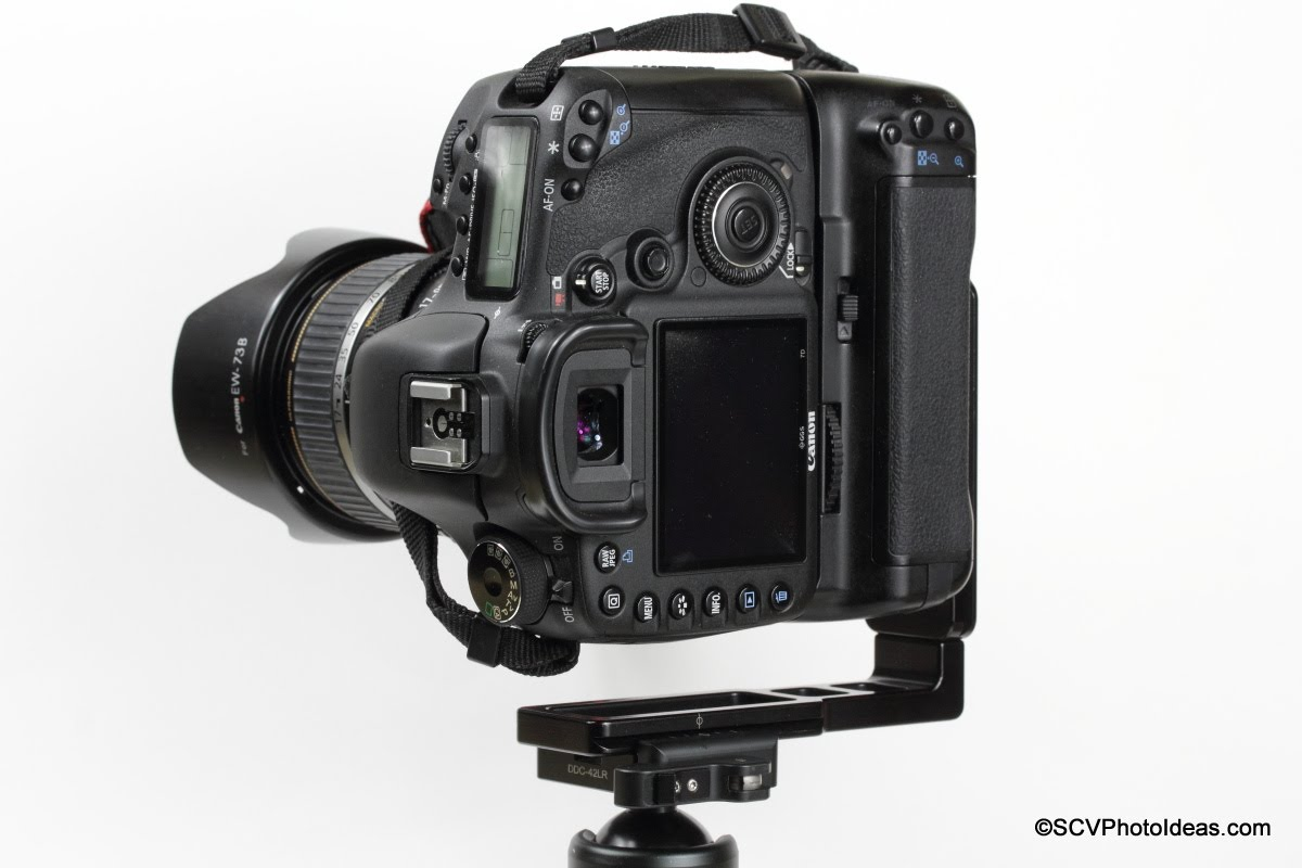 Hejnar L Bracket 44 on Gripped Canon EOS 7D - Portrait shifted