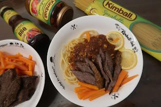 Resepi mudah Spageti Daging Bakar dengan Kimball